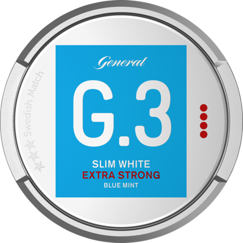 Snusnetto G3 Blue Mint Slim White Portion Extra Strong