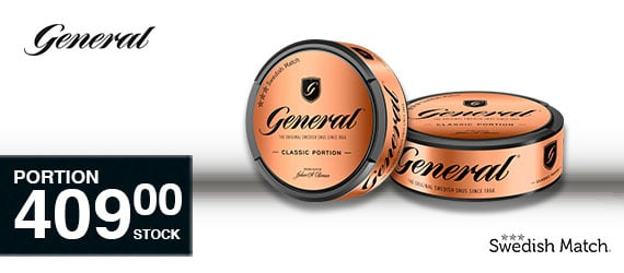 SNUSNETTO General Portion 409:- / stock